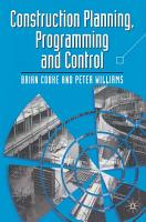 Construction Planning Programming and Control PDF