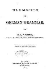 Elements of German Grammar