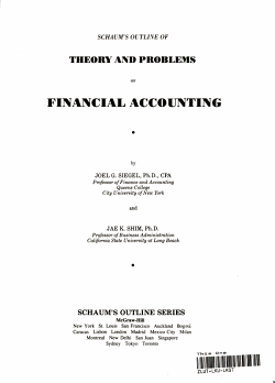 Schaum s Outline of Theory and Problems of Financial Accounting PDF