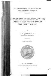 Economic Loss to the People of the United States Through Insects that Carry Disease
