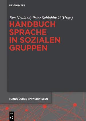 Handbuch Sprache in sozialen Gruppen PDF