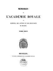 Mémoires de l'Académie Royale des Sciences, des Lettres et des Beaux-Arts de Belgique: Volume3