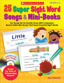 25 Super Sight Word Songs   Mini Books Book