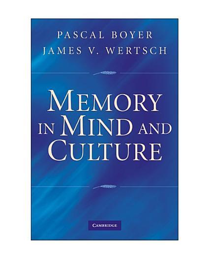 Memory in Mind and Culture PDF