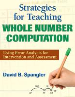 Strategies for Teaching Whole Number Computation PDF