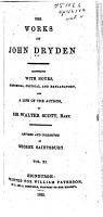 The Works of John Dryden  Poetical works PDF