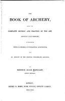 The Book of Archery PDF