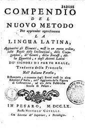 Compendio del nuovo metodo per apprender agevolmente la lingua latina
