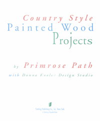 Country Style Painted Wood Projects Book PDF