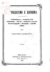 Cattolicismo e riforma l'ottantanove