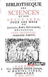 Bibliothèque des sciences et des beaux arts ...: Volume6