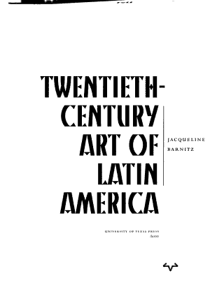 Twentieth Century Art of Latin America PDF