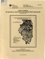 Policy Forum on Regional Groundwater Protection Programs, October 29, 1998