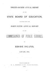Annual Report of the Board of Education: Volume 24