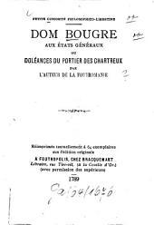 Dom Bougre aux États Généraux, ou doléances du portier des chartreux