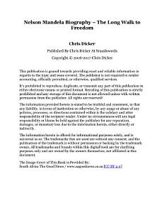 Nelson Mandela Biography   The Long Walk to Freedom PDF