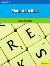 Math Activities: Word Puzzlers for Grades 1-2