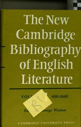 The New Cambridge Bibliography Of English Literature Book PDF