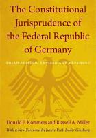 The Constitutional Jurisprudence of the Federal Republic of Germany PDF
