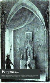 Fragmens: extraits des Mémoires de Commines et de l'Histoire des ducs de Bourgogne, suivis de scènes dramatiques ...