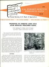 U.S. Forest Service research note SO.