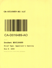 California. Court of Appeal (4th Appellate District). Division 1. Records and Briefs: D016489, Appellant's Opening