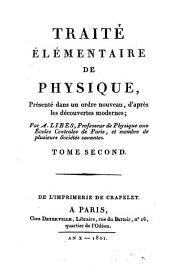 Traité Élémentaire De Physique: présenté dans un ordre nouveau, d'après les découvertes modernes, Volume2