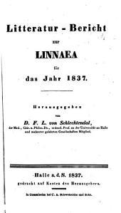 Litteratur-Bericht zur Linnaea für das Jahr ...