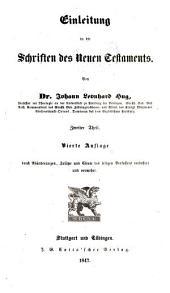 Einleitung in die Schriften des Neuen Testaments: Band 2