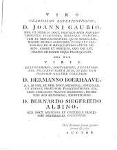 H. D. Gaubii Opuscula Academica Omnia: Prius sparsim edita, nunc vero in unum collecta