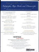 Heritage Americana Grand Format Auction Catalog #629
