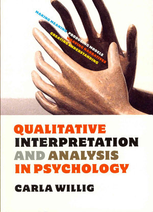 Qualitative Interpretation And Analysis In Psychology PDF