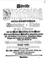 Historische Beschreibung von dem ehemahls berühmten Benedictiner-Kloster zu St. Georgen vor der Stadt Naumburg an der Saale ...