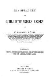 Grundriss der Sprachwissenschaft: Die Sprachen der schlichthaarigen Rassen. Bd. 2