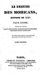 Le dernier des Mohicans, histoire de 1757: ... traduite de l'anglais par M. Defauconpret ...
