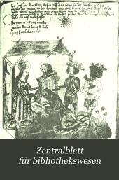Zentralblatt für Bibliothekswesen: Band 12