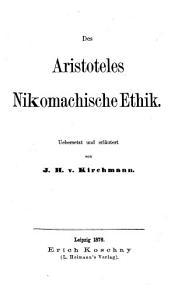 Des Aristoteles Nikomachische Ethik PDF