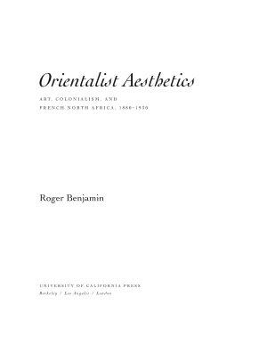 Orientalist Aesthetics PDF