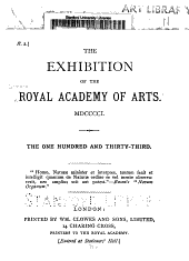 Exhibition of the Royal Academy of Arts