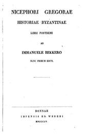Corpus Scriptorum Historiae Byzantinae: Volume 8