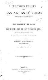 Cuestiones legales sobre las aguas públicas de la ciudad de México