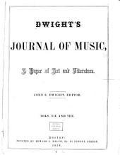Dwight's Journal of Music: Volumes 7-8