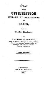 Histoire de la civilisation morale et religieuse des Grecs: Volume2