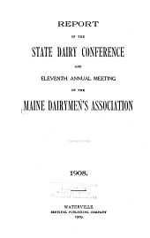 Report of The...annual Meeting of the Maine Dairymen's Association