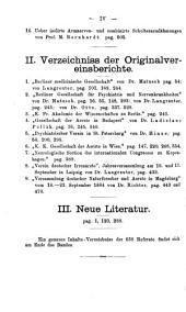 Zentralblatt für Nervenheilkunde, Psychiatrie und gerichtliche Psychopathologie: Band 7