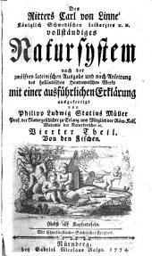 Des Ritters Carl von Linné Vollständiges Natursystem: Supplements- und Register-band über aller sechs Theile oder Classen des Thierreichs