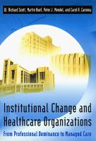 Institutional Change and Healthcare Organizations PDF