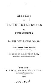 Elements of Latin hexameters and pentameters