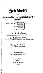 Zeitschrift für Philosophie und philosophische Kritik: Bände 37-39