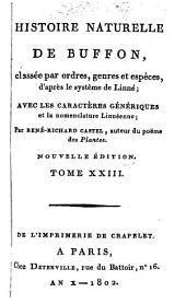 Histoire Naturelle: classée par ordres, genres et espèces, d'après le système de Linnée : avec les Caractères génériques et la nomenclature Linnéenne. Oiseaux ; T. 13, Volume23